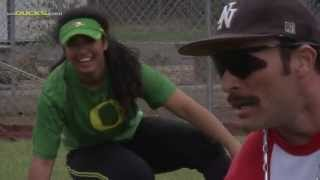 Domingo Ayala Visits Oregon Softball