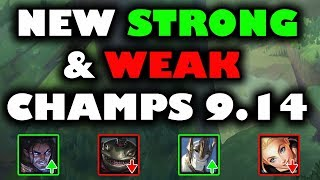 Huge Meta Shift ~ New Strong and Weak Champs Patch 9.14 (timestamps below)
