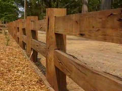 Wood Fencing: Post And Rail Wood Fencing