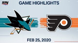 NHL Highlights | Sharks vs. Flyers – Feb. 25, 2020