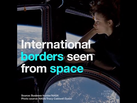 International borders seen from space