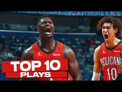 Top 10 New Orleans Pelicans Plays of The Year! 🔥