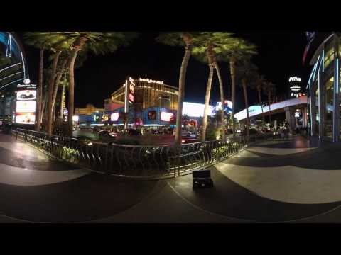 4K 3D 360 Sample Video Street Night 2 @insta360 PRO