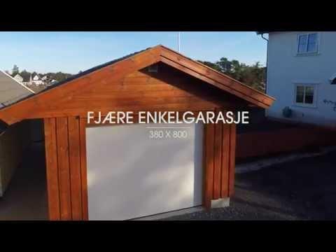 Igland Garasjen presenterer Fjære enkelgarasje