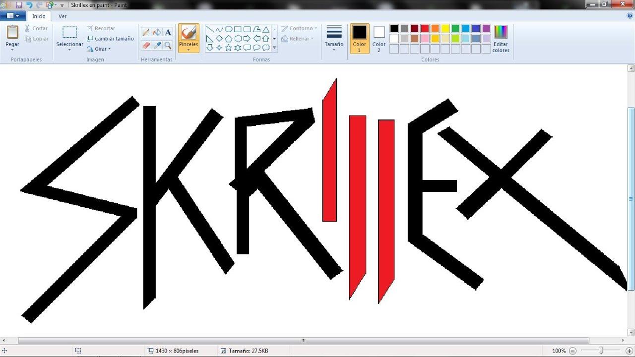 Dibujo De Skrillex En Paint