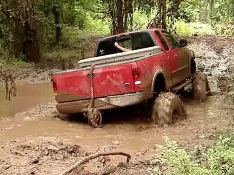 MUD TRUCKS MONSTER FORD F150 4x4 on Tractor Tires SINKS ...