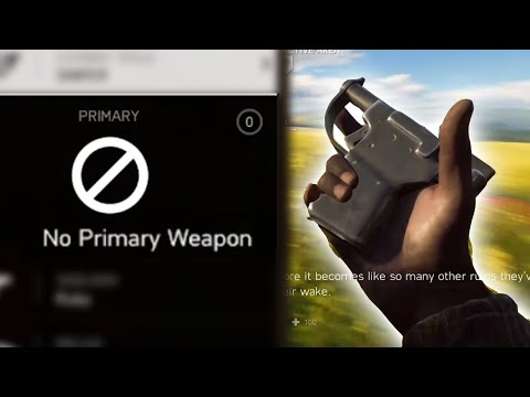 No primary weapon option in BFV?