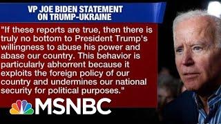 Joe Biden pide que se publiquen las transcripciones de la llamada de Trump con el presidente de Ucrania