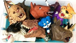 Lot of Wild Zoo Animals - Farm Animals Learn Animal Names - Educational Toys For Kids