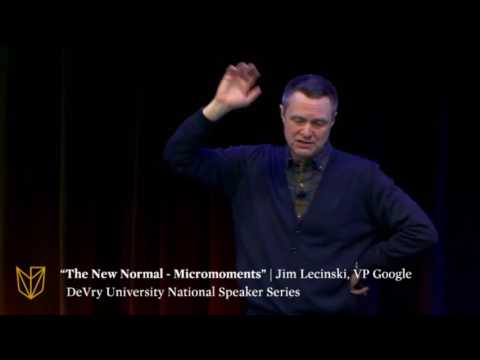 "DeVry University National Speaker Series: ""The New Normal – Micromoments"""