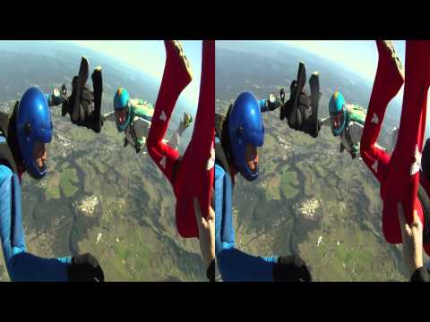 3D GoPro Skydiving Movie
