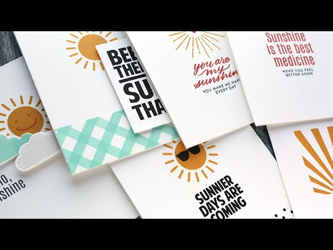 STAMPS ONLY! 6 Clean & Simple Cards – August 2020 Card Kit