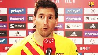 MESSI & KOEMAN FULL REACTION POST MATCH REACTION! Copa del Rey FINAL VICTORY 🏆