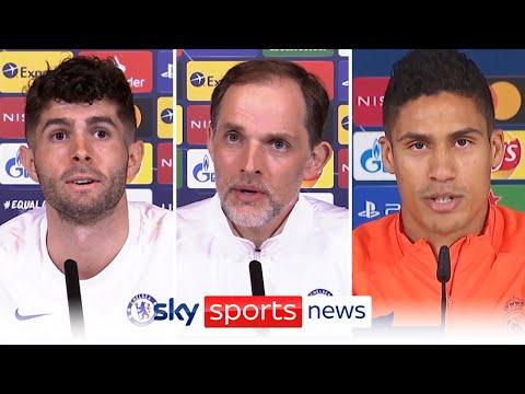 Thomas Tuchel, Christian Pulisic & Raphael Varane ahead of Champions League semi-final clash