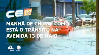 Manhã de chuva: Como está o trânsito na avenida 13 de maio