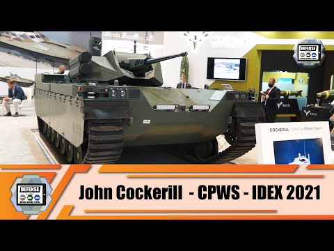 IDEX 2021 MILREM and John Cockerill unveils new unmanned light tank defense exhibition Abu Dhabi UAE