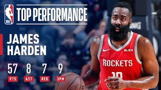 James Harden Drops 57 POINTS In Memphis | March 20, 2019