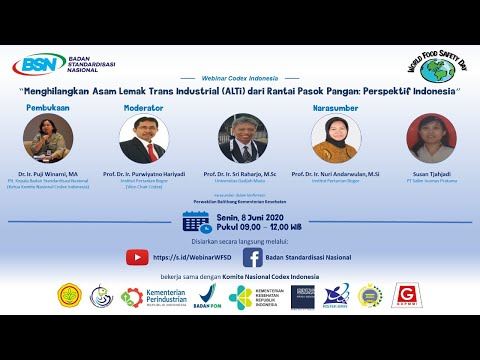 https://youtu.be/XTXKMorwSegWebinar Dalam Rangka Memperingati World Food Safety Day