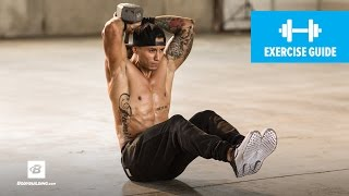 How to do V-Sit Dumbbell Triceps Extension | Mike Vazquez