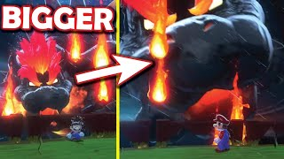 How BIG can you make Bowser in Bowser's Fury?