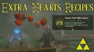 Extra Heart Recipes Guide Zelda Breath of the Wild