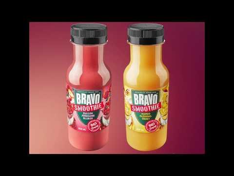 Bravo smoothie, välmixad och smarrig! Nu i liten flaska