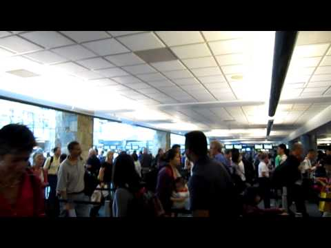 Immigration lines at Vancouver International Airport