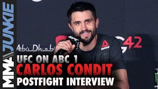 Carlos Condit happy with win but unsure of next step | UFC on ABC 1 post fight