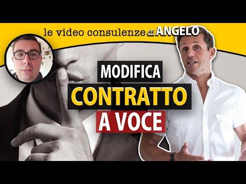 Modifica di un contratto a voce | avv. Angelo Greco