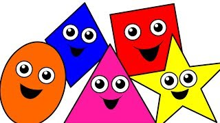 """""""Shapes Songs Collection Vol. 1"""" - 35 Mins of Baby, Toddler, Kindergarten Kids Learning Videos"""