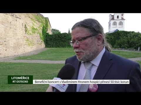 Benefiční koncert sVladimírem Hronem hospici přinesl 50 tisíc korun