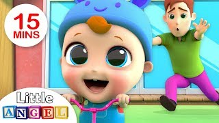 No No, Baby Rides the Scooter!| No No Song +More  Nursery Rhymes by Little Angel