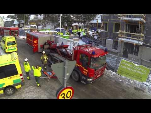 ErlandssonBygg genomför räddningsövning i Stockholm