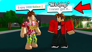 HONESTY EXPERIMENT I Gave Him FREE ROBUX But He Said I DIDN'T.. (Roblox)
