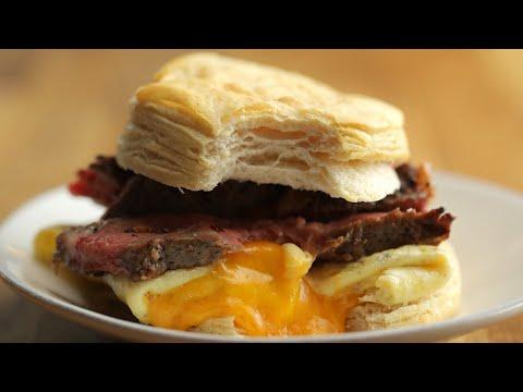Steak, Egg & Cheese Breakfast Sandwich ? Tasty