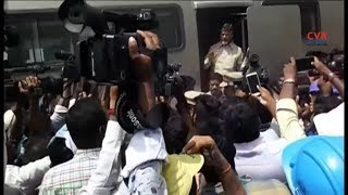 CM Chandrababu escapes probable Mishap in Capital..