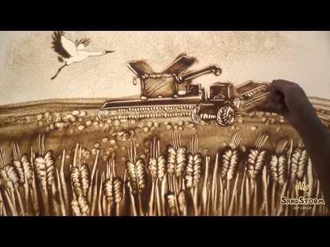История Кусто Агро с помощью песочной анимации