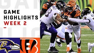 Ravens vs. Bengals Week 2 Highlights | NFL 2018