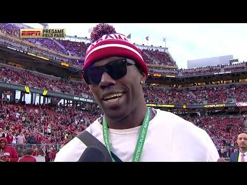 Terrell Owens is rooting for childhood team Alabama vs. Clemson | CFP National Championship