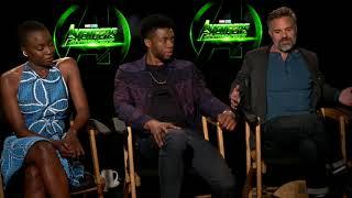 Avengers: Infinity War || Mark Ruffalo Chadwick Boseman And Danai Gurira Interview || SocialNews.XYZ