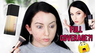 Does it Really Cover?! NEW HUDA BEAUTY FAUX FILTER FOUNDATION {Review & Demo!} Acne/Fair Skin