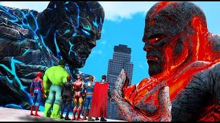 GTA 5 - Superheroes FOUND Biggest Titans 2 - Perses VS Oceanus