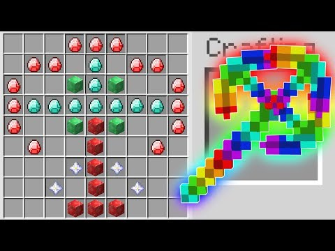 HOW TO CRAFT A $100,000 LEGENDARY RAINBOW PICKAXE IN MINECRAFT!!