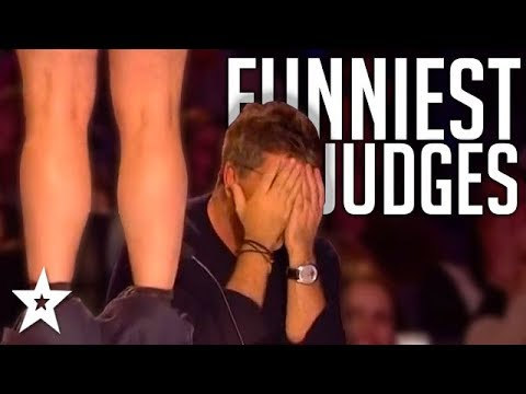 JUDGES GO WILD   Hilarious Auditions On Britain And America's Got Talent!   Got Talent Global