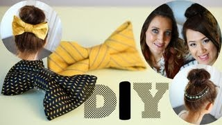 anneorshine – DIY Recycle Ties to Bows & Necklaces to Hair Accessory