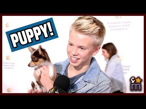 Carson Lueders Introduces His ADORABLE Puppy Louie | Exclusive Interview