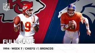 Chiefs vs. Broncos: Joe Montana vs. John Elway The Final Showdown | Week 7, 1994 | NFL Full Game