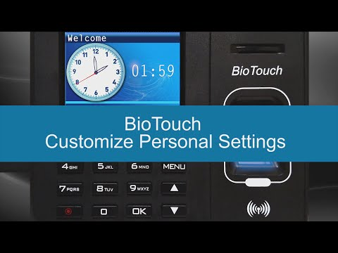 BioTouch - How to Customize Settings