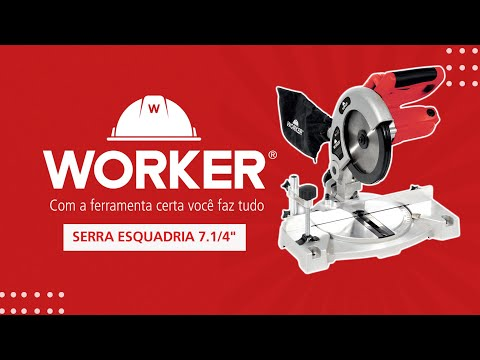 "Serra Esquadria 850W 7.1/4"" 185Mm Worker - 127V - Vídeo explicativo"