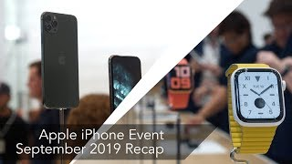 iPhone 11 Pro event recap: The big hardware news from September 10, 2019
